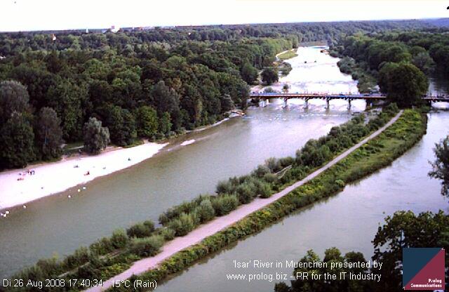 Web Camera 'Isar' River in Munich , Munich, Germany