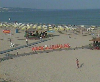 Web Camera Albena resort beach , Albena , Bulgaria