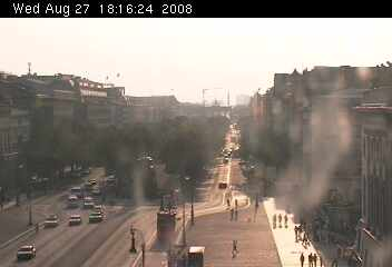 Web Camera Unter den Linden to the Brandenburg Gate , Berlin, Germany