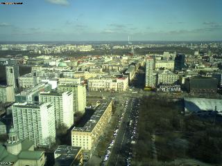 Web Camera Warszawa - East side view , Warszawa, Poland